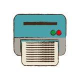 utrustning för kopia för kontor för teckningsskrivararbete vektor illustrationer