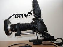 Utrustning för macrophotography royaltyfria foton