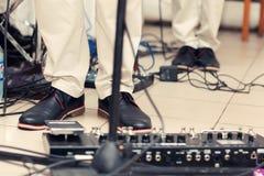 Utrustning för musikband Arkivbild