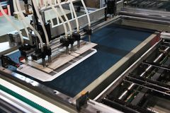 Utrustning för printingbransch Arkivfoto