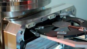 Utrustning för prov för laboratoriumhalvledare microelectronic, rörelse stock video