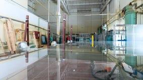 Utrustning i industriellt glass bearbeta seminarium Arkivbilder
