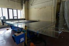 Utrustning i industriellt glass bearbeta seminarium Royaltyfria Bilder
