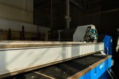 Utrustning i industriellt glass bearbeta seminarium Arkivfoton