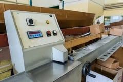 Utrustning i industriellt glass bearbeta seminarium Fotografering för Bildbyråer