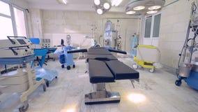 Utrustning och medicinska apparater i fungeringsrum lager videofilmer