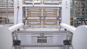 Utrustning på en fabrik lager videofilmer