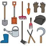 utrustning som arbeta i trädgården utomhus- sommararbete Royaltyfri Foto