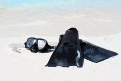 utrustning som snorkeling Arkivfoto