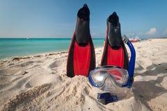 utrustning som snorkeling Arkivbilder