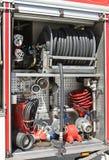 Utrustningar av en firetruck Royaltyfria Foton