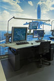 Utrustningen av flygtrafikkontrollanter Arkivbild