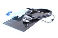 utrustningläkarundersökninghjälpmedel Royaltyfri Fotografi