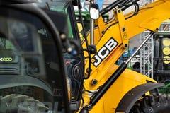 Utrustningmedel och logo för JCB tungt Arkivbild