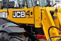 Utrustningmedel och logo för JCB tungt Royaltyfri Fotografi