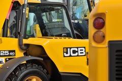 Utrustningmedel och logo för JCB tungt Royaltyfria Bilder