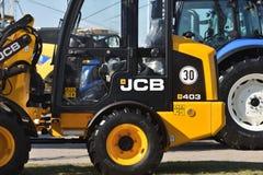 Utrustningmedel och logo för JCB tungt royaltyfri foto