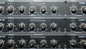 utrustningmedel som registrerar ljudet Royaltyfria Bilder