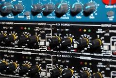 utrustningmedel som registrerar ljudet Royaltyfri Fotografi