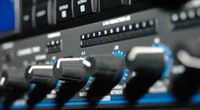 utrustningmedel som registrerar ljudet Fotografering för Bildbyråer