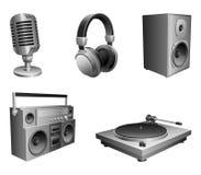 utrustningmusik Arkivbild