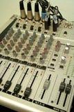 utrustningmusikljud Arkivfoto