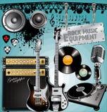 utrustningmusikrock Arkivfoton