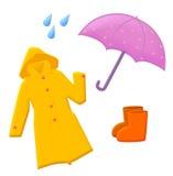 utrustningregn vektor illustrationer