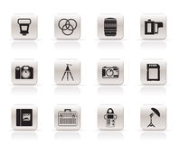 utrustningsymbolsfotografi vektor illustrationer