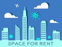 Utrymme för hyra föreställer den Real Estate 3d illustrationen Royaltyfria Foton