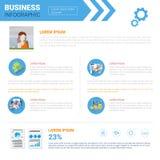 Utrymme för kopia för affärsInfographics uppsättning för begrepp för rapport för presentationsdatamarknad royaltyfri illustrationer