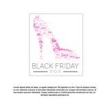 Utrymme för kopia för baner för Black Friday Sale ferieshopping vektor illustrationer