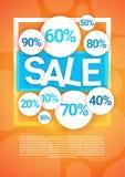 Utrymme för kopia för baner för Black Friday stort Sale ferieshopping stock illustrationer