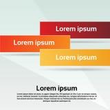 Utrymme för kopia för mellanrum för baner för affärskort färgrikt vektor illustrationer