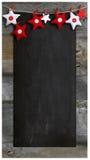 Utrymme för kopia för svart tavla för julrestaurangmeny trä royaltyfri bild