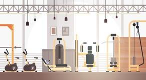 Utrymme för kopia för utrustning för genomkörare för sportidrottshall inre stock illustrationer