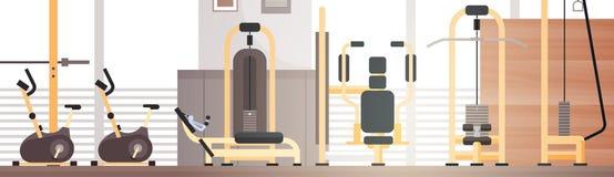 Utrymme för kopia för utrustning för genomkörare för sportidrottshall inre royaltyfri illustrationer