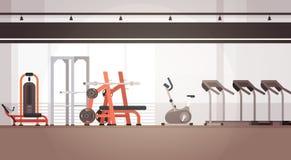 Utrymme för kopia för utrustning för genomkörare för sportidrottshall inre vektor illustrationer