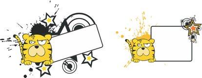 Utrymme för kopia för stil för tigertecknad filmboll stock illustrationer