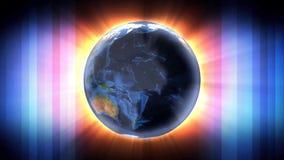 Utrymme för ljus för jordvärld färgrikt vektor illustrationer