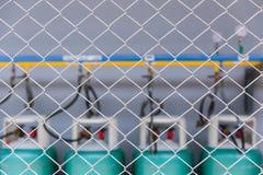 Utrymme för LPG-gaslagring i säkerhetsutrymmeområde Royaltyfria Bilder