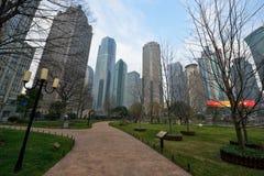 Utrymme för Lujiazui centralgräsplan, Shanghai royaltyfri bild