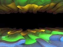 Utrymme för text - illustration 3D Arkivfoto