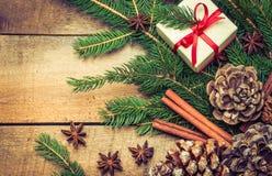 Utrymme för text för julferiebakgrund Royaltyfri Fotografi