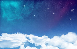 Utrymme med molnbakgrund Royaltyfri Fotografi
