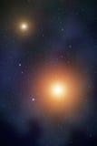 Utrymme med nebulosan Arkivfoto