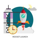 Utrymme Rocket Launch Vector Image Royaltyfria Bilder