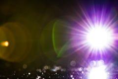 Utrymmebelysningstjärna fotografering för bildbyråer