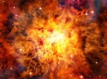 Utrymmeexplosionbakgrund Arkivfoto