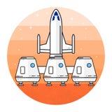 Utrymmehus för att bo på Mars Fotografering för Bildbyråer